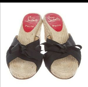 Reselling this Christian LOUBITON Wedges